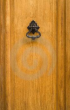 Old Door With Iron Handle/knocker Stock Photos - Image: 19121033