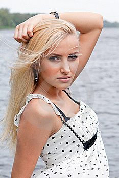 Portrait Of Attractive Blond Girl Royalty Free Stock Photography - Image: 19121217
