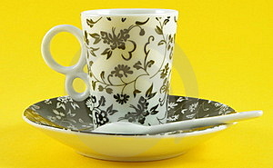 Cup With Saucer Stock Photo - Image: 19121780
