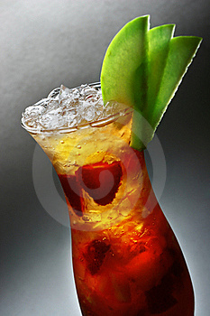 Refreshment Cocktail With Apple & Strawberry Royalty Free Stock Photography - Image: 19124387