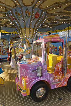 Kids Carrousel Royalty Free Stock Image - Image: 19125186
