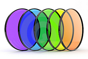 Color Photos Filters 3d. Isolated Stock Images - Image: 19125204