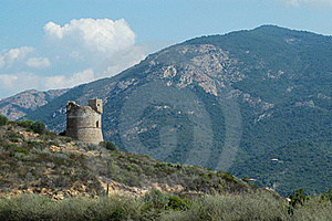 Genoese Tower In Corsica Royalty Free Stock Photo - Image: 19125245