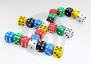 Dice In Shape Of Pound Sterling Symbol Stock Photos - Image: 19126393