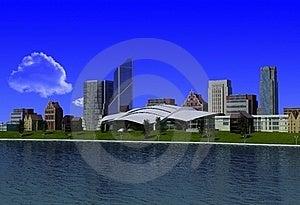 Modern City Stock Photo - Image: 19128790