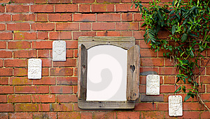 Window On A Wall Royalty Free Stock Photos - Image: 19130018