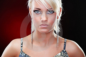 Closeup Portrait Of An Elegant Blonde Beauty Royalty Free Stock Photos - Image: 19130358