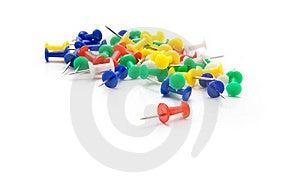Push-pins Coloured Royalty Free Stock Photos - Image: 19130748