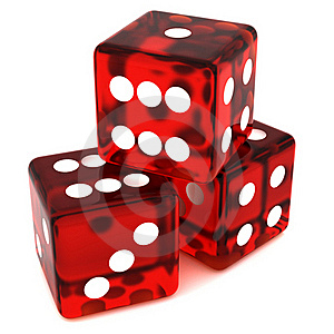 Red Dice Royalty Free Stock Image - Image: 19132336