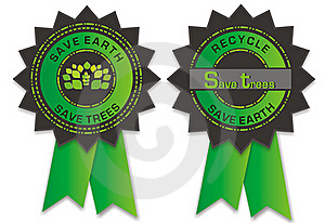Environmental Badges Royalty Free Stock Images - Image: 19133259