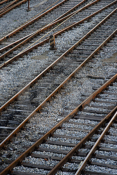 Train Tracks Royalty Free Stock Photos - Image: 19134268