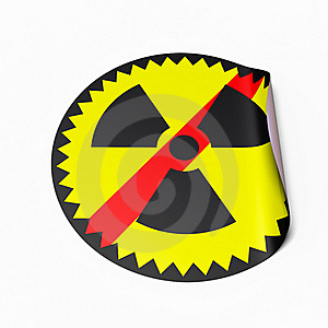No Nuclear Power Sticker Royalty Free Stock Photo - Image: 19134545