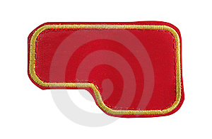Red Jeans Label Stock Image - Image: 19135501