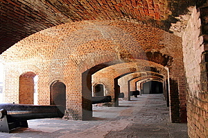 Gun Rooms With Cannons Inside Fort Stock Photography - Image: 19135802
