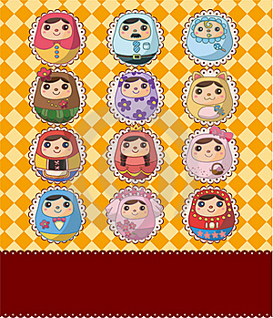 Russian Doll Card Royalty Free Stock Image - Image: 19136976