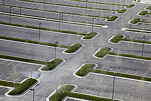 Empty Carpark Oblique Royalty Free Stock Photography - Image: 19138017