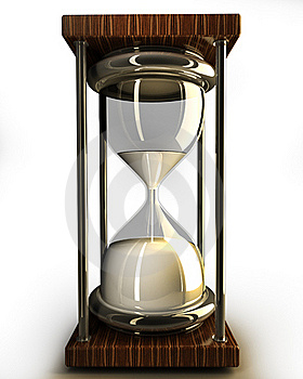 Closeup Of Hourglass In Warm 3d Royalty Free Stock Images - Image: 19138259