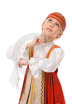 Young Girl Dancing In National Dress Royalty Free Stock Photos - Image: 19138578