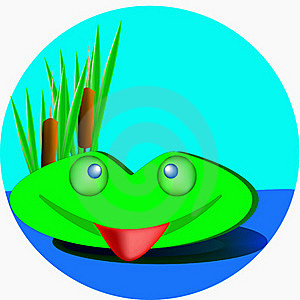 Green Frog Royalty Free Stock Photography - Image: 19139397