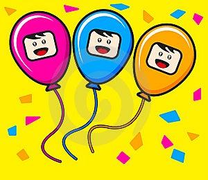 Trio Ballon Royalty Free Stock Photos - Image: 19139448