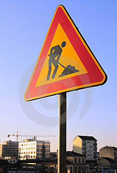 Work In Progress Road Sign Royalty Free Stock Photo - Image: 19139525