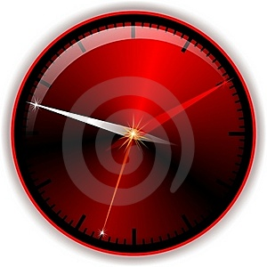 Red Button Time Royalty Free Stock Image - Image: 19141006