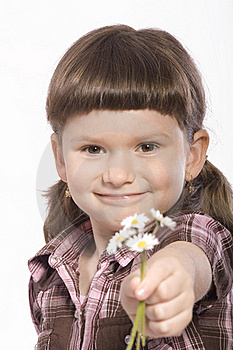 Young Girl Wiht Flowers Stock Photo - Image: 19142470