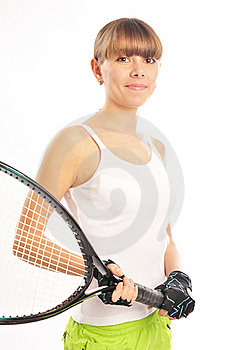 Young Female Tennis-player Stock Image - Image: 19142921