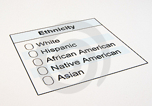 US Ethnicity Form Stock Images - Image: 19144144