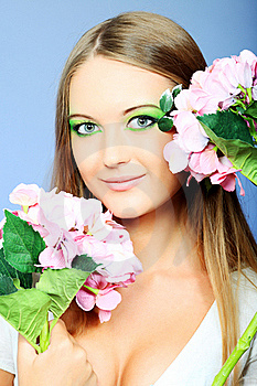 Green Make Up Royalty Free Stock Photography - Image: 19145517