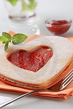 Heart Shaped Jam Biscuit Royalty Free Stock Photo - Image: 19145815
