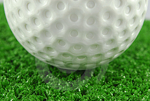 Golf Ball On The Green Grass Turf Royalty Free Stock Photography - Image: 19146487