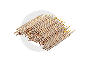 Toothpicks Isolated Royalty Free Stock Image - Image: 19146726