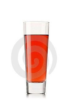 Fresh Strawberry Juice On A White Background Stock Images - Image: 19147274