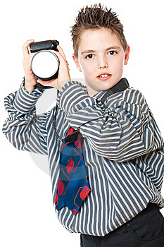 Boy And Camera Royalty Free Stock Images - Image: 19148719