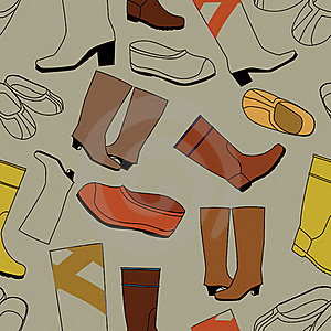 Seamless Shoes Gray Pattern Royalty Free Stock Photo - Image: 19150465
