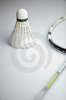 Badminton Shuttlecock And Racket Royalty Free Stock Image - Image: 19157336