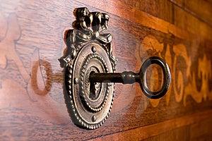 Old Key In Keyhole Stock Photos - Image: 19158423