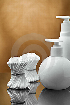 Copyspace View On Cosmetical Accessories Royalty Free Stock Image - Image: 19159586