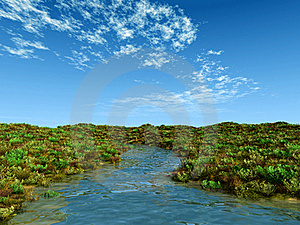 Creek In Summer Stock Images - Image: 19162244