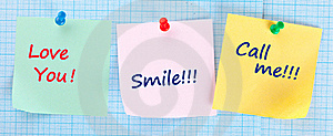 Sticky Papers Set Royalty Free Stock Images - Image: 19162269