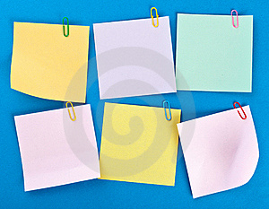 Sticky Papers Set Stock Photos - Image: 19162303