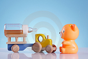 Baby Background, Bear And Tractor Stock Photo - Image: 19162350