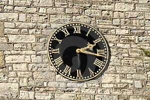 Church Clock Stock Photo - Image: 19162570