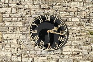 Church Clock Stock Photo - Image: 19162570