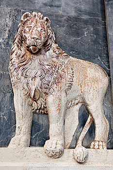 Lion Bas-relief Stock Images - Image: 19162844