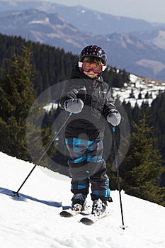 Young Boy Skiing Stock Photos - Image: 19163193