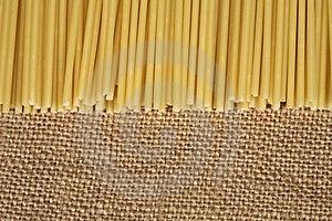 Pasta On Sacking Royalty Free Stock Photo - Image: 19164875