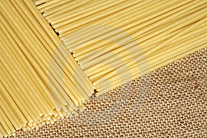 Pasta On Sacking Royalty Free Stock Image - Image: 19164926
