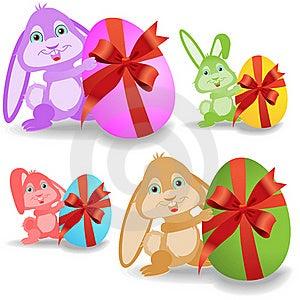 Set Of Easter Bunnies Stock Photos - Image: 19166033